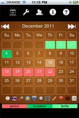 אפליקציית LadyTimer, צילום מסך
