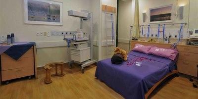 """חדר לידה בהדסה עין כרם (צילום: דוברות בי""""ח)"""