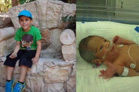 הבן הראשון - אז והיום. צילום: לירז צוקרן