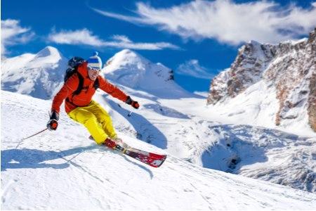 סקי הוא ספורט שיש לו יתרונות רבים עבור חולי סוכרת. צילום: שאטרסטוק