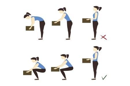 הרמת משאות נכונה חשובה למניעת כאבי גב. צילום: thinkstock